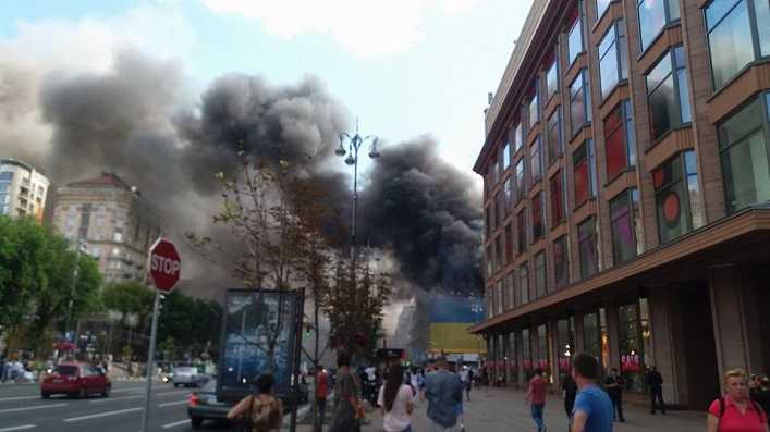 Фото пожежі із «зона відчуження» - пожежа у Чорнобилі