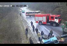 Аварія на Тернопільщині. На дорозі перекинувся і загорівся молоковоз