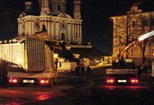Демонтаж ряда незаконных сооружений на пересечении улиц Десятинной и Владимирской