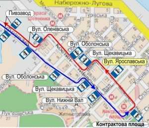Для четырех киевских трамваев на ул. Межигорской открыта дополнительная остановка. Схема