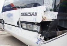 Два пассажирских автобуса столкнулись в аэропорту Будапешта