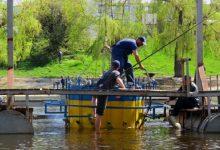 На Русанівському каналі завершено встановлення 12 світломузичних фонтанів