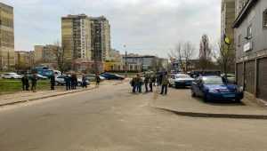 Перестрелка в киевском общежитии для переселенцев. Видео