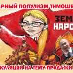 Аграрный популизм Юлии Тимошенко и спекуляция на тему продажи земли