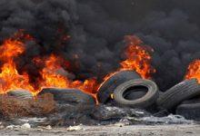 В Черкассах на открытой площадке площадью 300 квадратных метров горят автомобильные покрышки