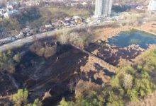 В Голосеесвком районе на Совских прудах горит камыш
