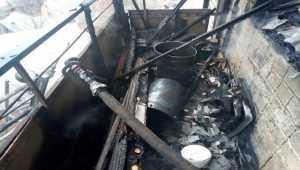 В Харькове произошел пожар в 9-этажном жилом доме. Фото
