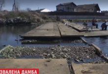 В Киеве на Бортнической станции аэрации повредили дамбу. Видео