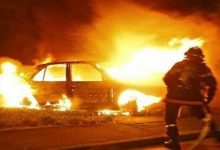 В Киеве пожарные ликвидировали возгорание 4 автомобилей