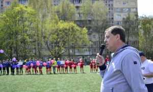 В Святошинском районе состоялся праздник по случаю открытия 15 стадиона. Фото