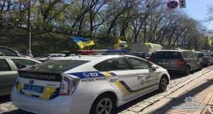 В центральной части Киева полиция усилила меры безопасности