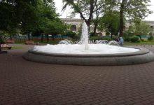 Фонтан на Контрактовой площади залили мылом3