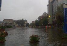 На Прикарпатье ливень с градом уничтожил огороды и затопил дворы. Видео