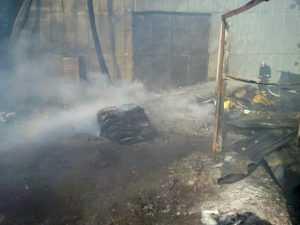 Под Киевом горел пункт приема вторсырья