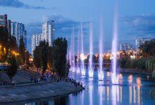 Світло-музичне шоу на Русанівському каналі. Відео