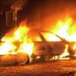 У Голосіївському районі Києва спалили авто активістки
