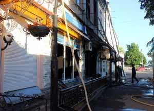 В Черкасской области сгорело игорное заведение. Фото