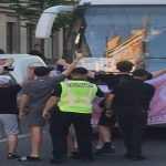 В Киеве фанаты перекрыли проезд автобусам с делегацией ФК Реал