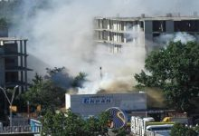 В Киеве горит бывший кинотеатр Экран. Видео
