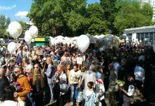 В Киеве на акции ко Дню победы избили пожилого мужчину