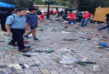 В центральном парке Шевченко туристы оставили горы мусора. Фото