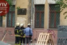 В центре Киева произошло обрушение части фасада здания