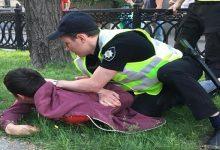 В центре Киева задержан провокатор болельщиков