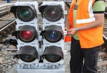 На Центральном вокзале начал работать современный карликовый светофор