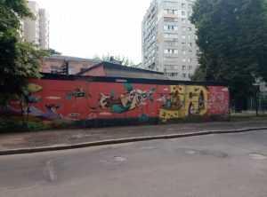 Прогулка по муралам на центральных улицах в Киева