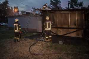 В Днепровском районе сгорело заведение общественного питания. Фото