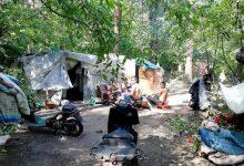 В Голосеевском парке разрастается городок ромов
