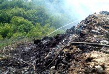 В Полтавской области на городской свалке уже четвертый день спасатели тушат пожар