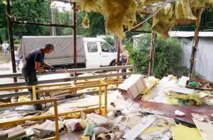 В Соломенском районе демонтировали подпольный цех