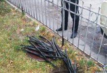 В Соломенском районе задержан очередной вор кабеля