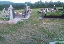 В Закарпатской области трое малолетних детей совершили погром на кладбище