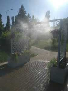 В очередном столичном парке установили охлаждающую рамку
