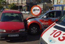 В столице на проспекте Победы столкнулись два автомобиля