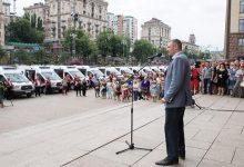 Виталий Кличко передал 25 новых санитарных автомобиля с современным медицинским оборудованием