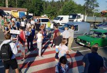 Жители Киевской области перекрыли трассу Киев-Ковель. Фото