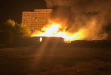 В Бортничах произошел масштабный пожар. Видео, фото