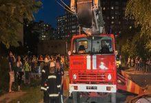 В Киеве на улице Драгоманова произошел пожар