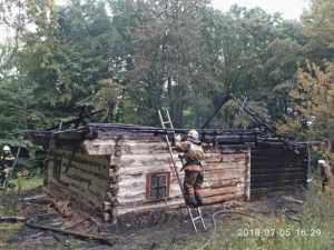 В столичном музее Пирогово произошел пожар
