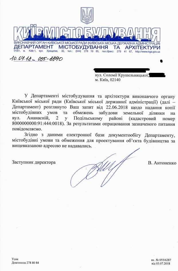 Департамент містобудування та архітектури Мірошниченко Нивки Плаза