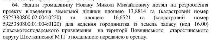Новак Микола Михайлович Шостка земля